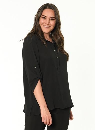 Selen Gömlek Bluz Siyah